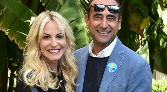 Antonella Clerici e Carlo Conti