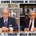 Vittorio Feltri e l'imitazione di Crozza