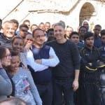 Beppe Fiorello e Mimmo Lucano, sindaco di Riace