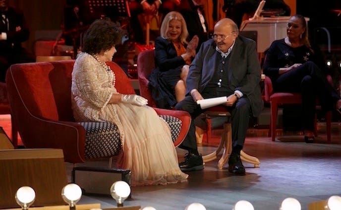 Gina Lollobrigida e Maurizio Costanzo