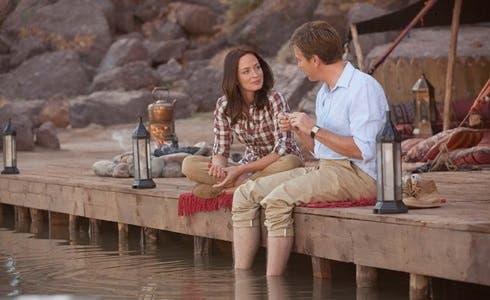 Emily Blunt  e Ewan McGregor  in Il Pescatore di Sogni