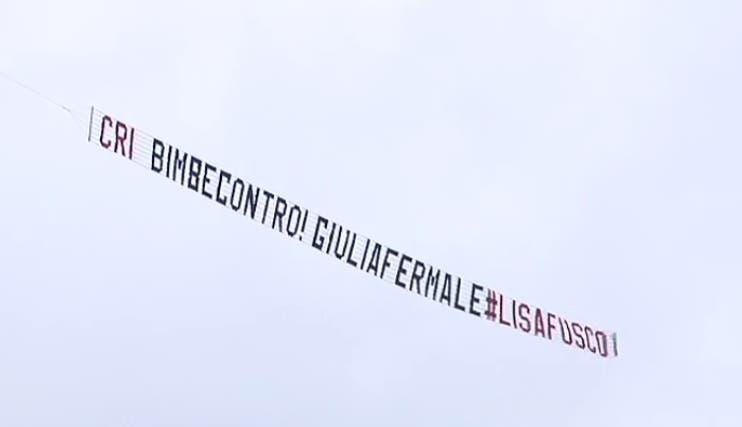 Messaggio aereo di Lisa Fusco a Malgioglio - GF Vip 2017