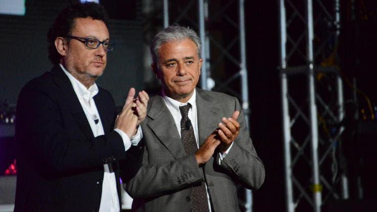 Orfeo (dg Rai) e Teodoli (direttore Rai 1)