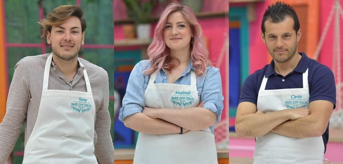 Bake Off Italia 2017 - I finalisti Tony, Malindi e Carlo