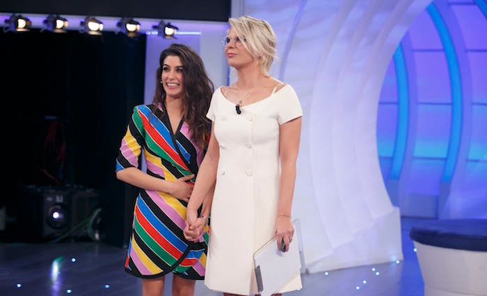 Giulia Michelini e Gerard Butler alla seconda puntata di C'è Posta Per Te – Foto