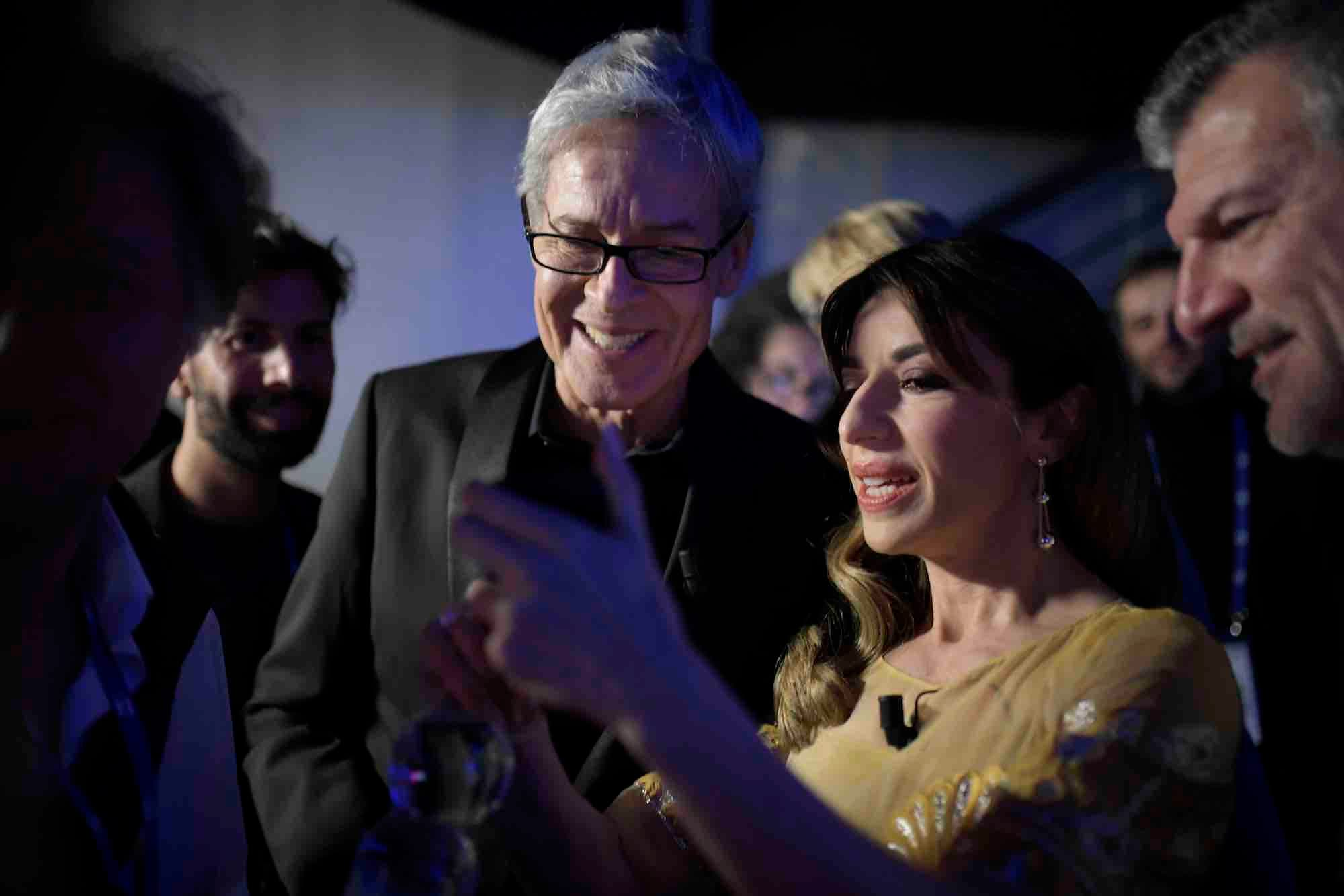 Claudio Baglioni con Sabrina Impacciatore © US Rai