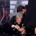 Festival di Sanremo, gag con Michelle Hunziker