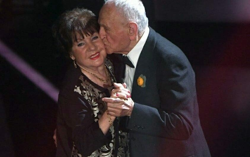 I Nonni di Renzo Rubino sul palco di Sanremo 2018