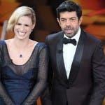 Sanremo 2018 - Michelle Hunziker e Pierfrancesco Favino