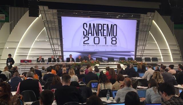 Sanremo 2018, conferenza