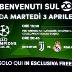 Juventus-Real Madrid sul 20