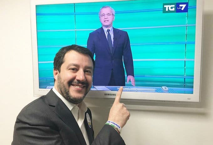 Salvini e mentana pagelle