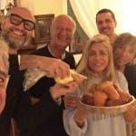 Teodoli, Romano, Carraro, Venier - da Instagram di Mara Venier