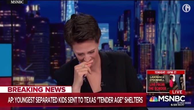 Rachel Maddow in lacrime in diretta tv