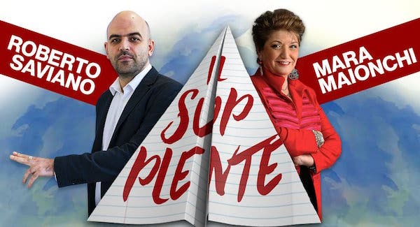 Roberto Saviano e Mara Maionchi