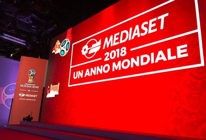 Conferenza stampa dei Mondiali a Mediaset