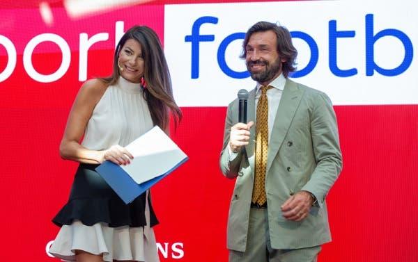 Ilaria D'Amico e Andrea Pirlo