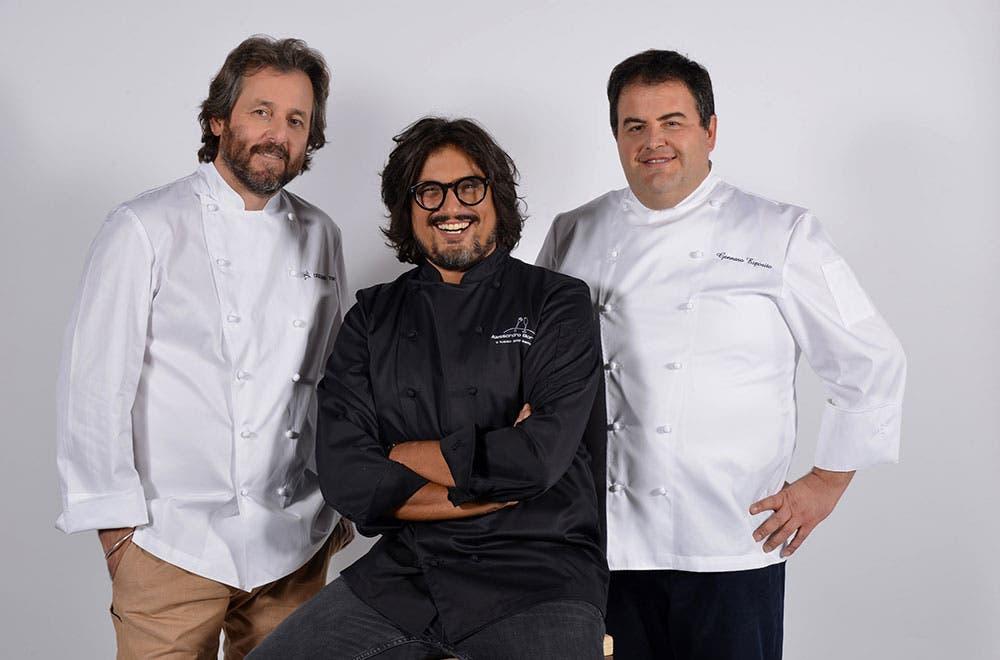 Cuochi d'Italia - Cristiano Tomei, Alessandro Borghese e Gennaro Esposito