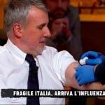 W L'Italia, Gerardo Greco si vaccina