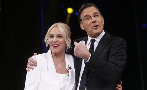 Antonella Clerici e Fabrizio Frizzi