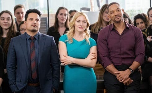 Michael Peña, Kate Winslet e Will Smith in Collateral Beauty