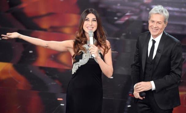 Virginia Raffaele e Claudio Baglioni - Festival di Sanremo