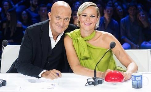 Claudio Bisio e Federica Pellegrini