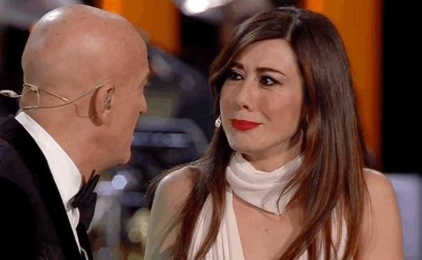 Claudio Bisio e Virginia Raffaele - da Twitter SanremoRai