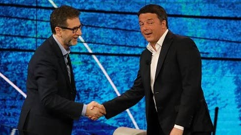 Fabio Fazio e Matteo Renzi