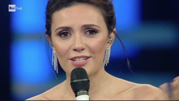 Serena Rossi - Terza serata Sanremo 2019 (Twitter @SanremoRai)