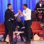 Salvini e Mahmood al Maurizio Costanzo Show