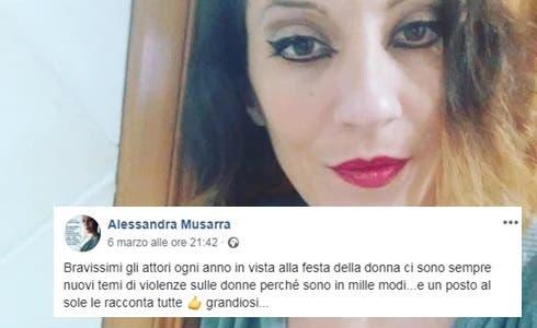 Alessandra Musarra (Foto Pagina FB)