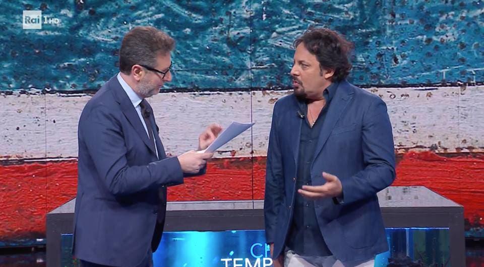 Fabio Fazio ed Enrico Brignano