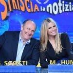 Gerry Scotti e Michelle Hunziker a Striscia la Notizia