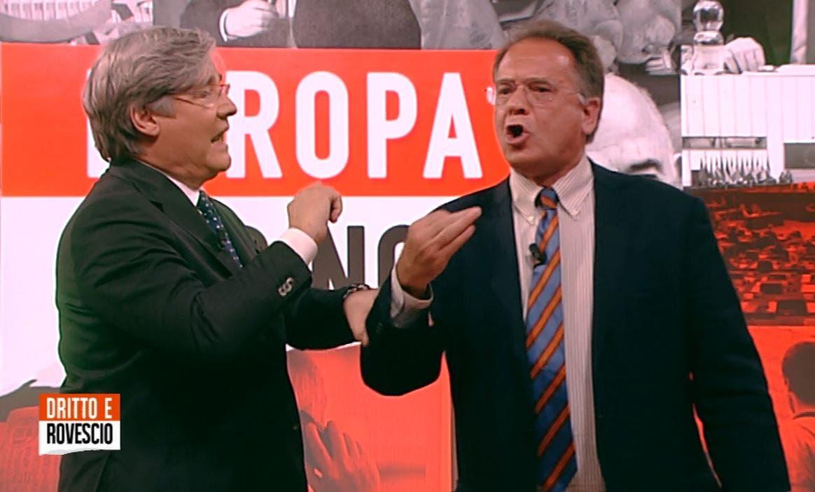 Dritto e Rovescio, Cecchi Paone: «Santanchè è fascista». Del