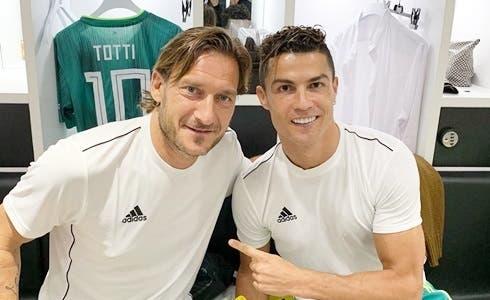 Francesco Totti e Cristiano Ronaldo