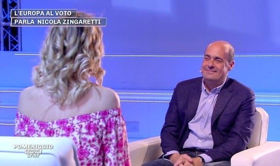 Pomeriggio Cinque, Nicola Zingaretti: «Il governo è come Mar