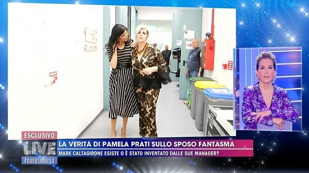 Pamela Prati lascia lo studio di Live