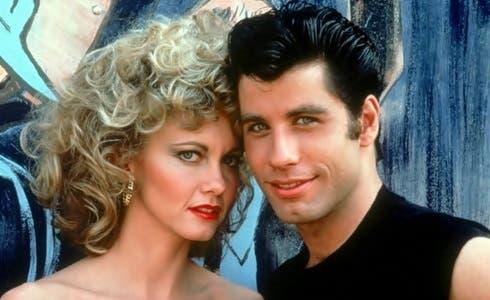 Olivia Newton-John e John Travolta in Grease