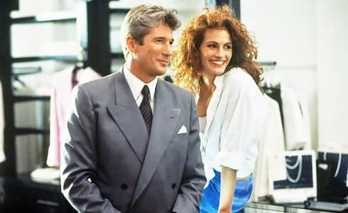 Richard Gere e Julia Roberts in Pretty Woman