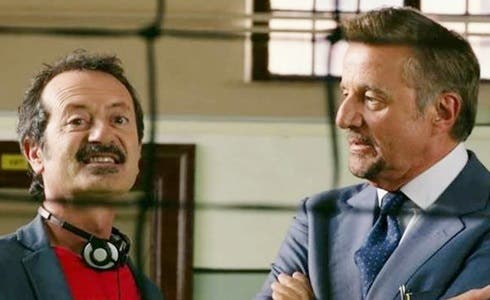 Rocco Papaleo e Christian De Sica in La scuola più bella del mondo