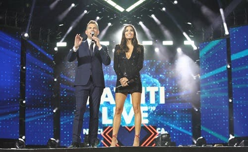 Alan Palmieri ed Elisabetta Gregoraci - Battiti Live 2019