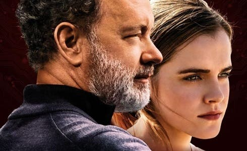Tom Hanks e Emma Watson in The Circle