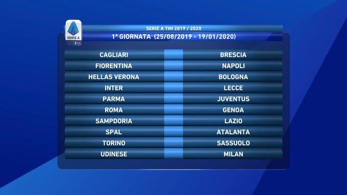 Prima giornata Serie A