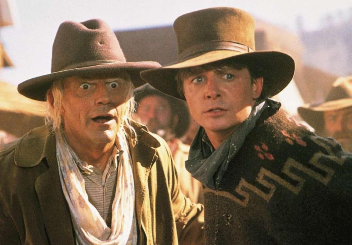 Ritorno al Futuro III - Christopher Lloyd e Michael J. Fox