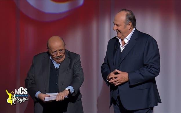 Maurizio Costanzo e Gerry Scotti