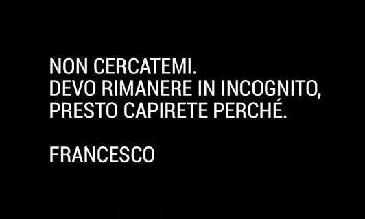 Celebrity Hunted - il messaggio social di Totti