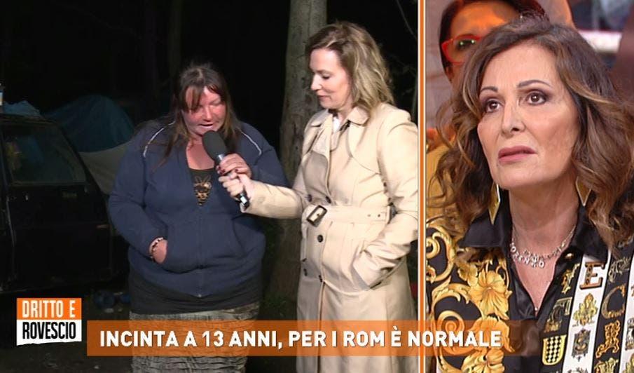 Dritto e Rovescio: mamma di ragazzina rom incinta a 13 anni