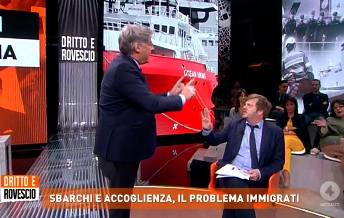 Dritto e Rovescio, Majorino vs Del Debbio: «Conduce e fa pol
