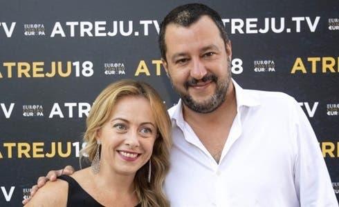 Giorgia Meloni e Mattia Salvini
